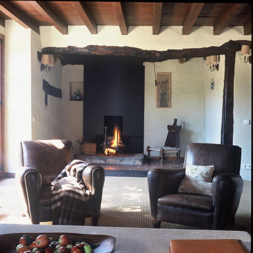 Proyecto de reforma e interiorismo para casa de campo en Segovia. Málamo, Madrid.